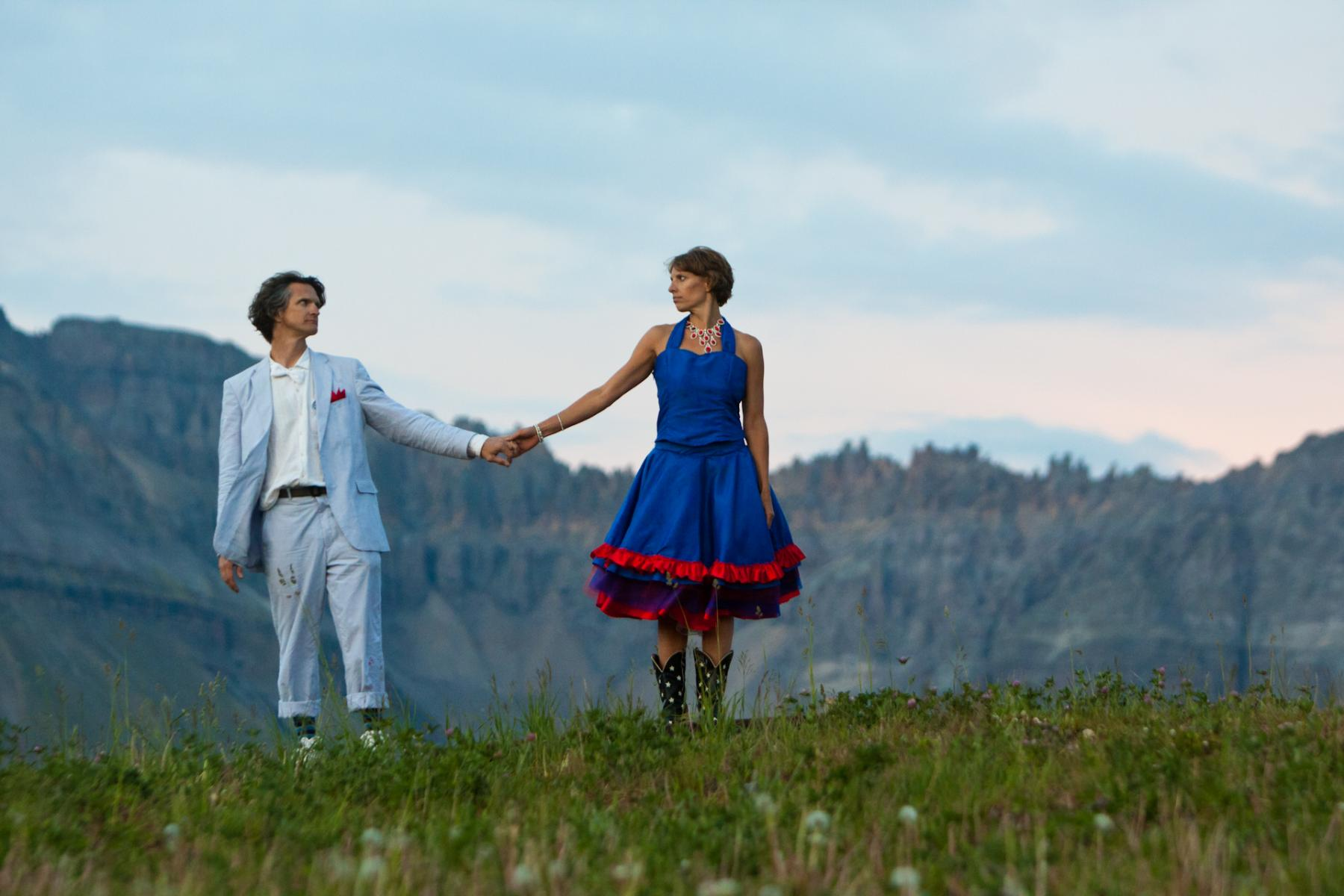 Mountain Wedding Portrait by Boulder Colorado Wedding Photographer D'Antonio Photography
