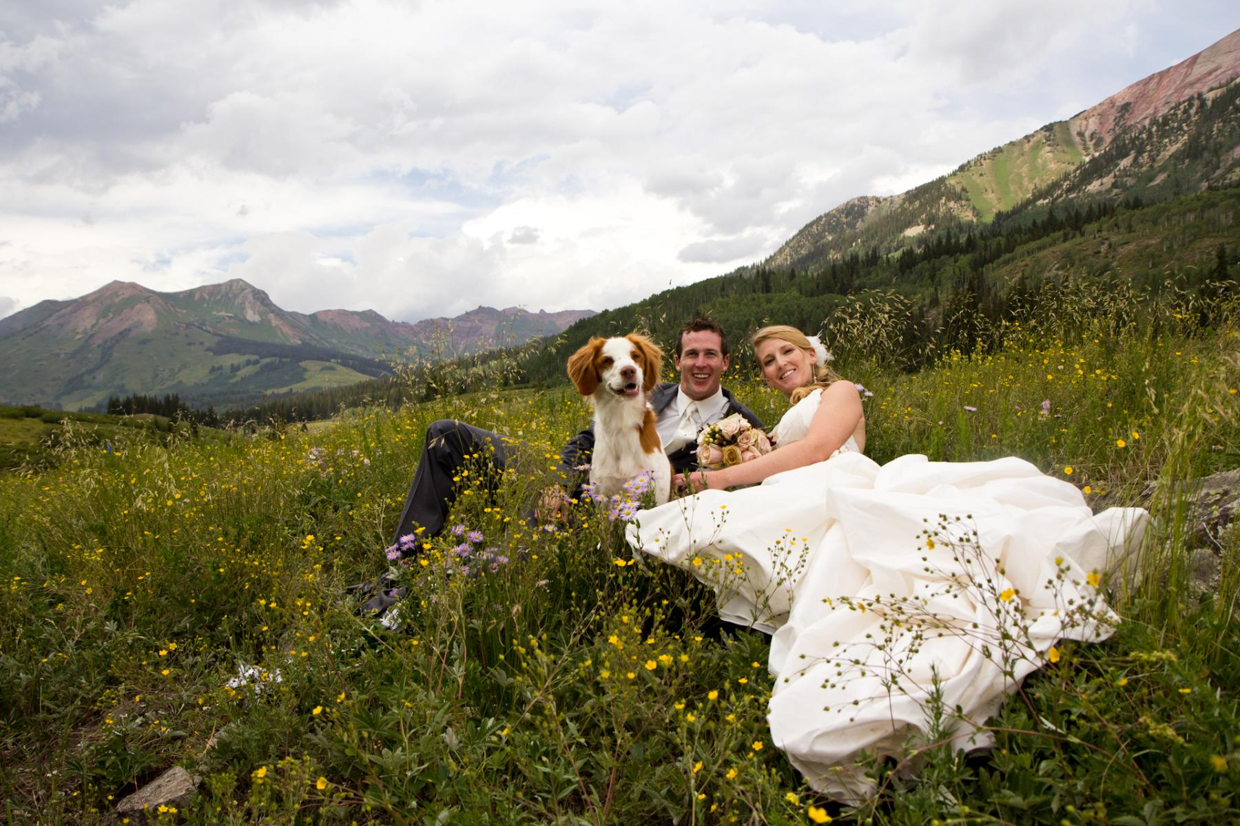Mountain Wedding Portrait by Boulder Wedding Photographer D'Antonio Photography